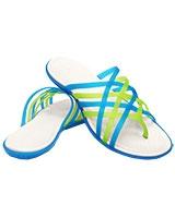 Women's Huarache Flip-Flop Ocean/Oyster Flip 14122 - Crocs