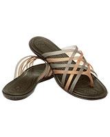 Women's Huarache Flip-Flop Bronze/Espresso Flip 14122 - Crocs