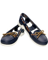 Women's Beach Line Boat Shoe Navy/White 14261 - Crocs