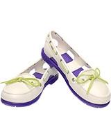 Women's Beach Line Boat Shoe Oyster/Ultraviolet 14261 - Crocs