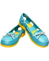 Women's Beach Line Boat Shoe Aqua/Yellow 14261 - Crocs