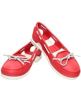 Women's Beach Line Boat Shoe Red/White 14261 - Crocs
