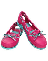 Women's Beach Line Boat Shoe Candy Pink/Pool 14261 - Crocs