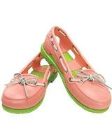 Women's Beach Line Boat Shoe Melon/Volt Green 14261 - Crocs