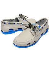 Men's Beach Line Boat Shoe Pearl White/Ocean 14327 - Crocs