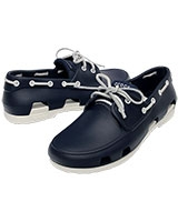 Men's Beach Line Boat Shoe Navy/White 14327 - Crocs