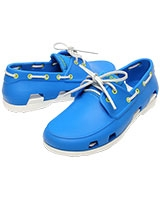 Men's Beach Line Boat Shoe Ocean/White 14327 - Crocs