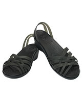 Women's Huarache Mini Nautical Wedge Black/Black 14384 - Crocs