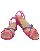 Women's Huarache Mini Nautical Wedge Vibrant Violet/Melon 14384 - Crocs
