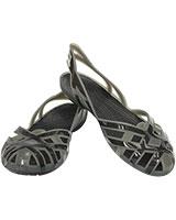 Girls' Huarache Slingback Flat Silver/Onyx 14410 - Crocs