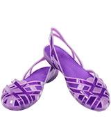 Girls' Huarache Slingback Flat Iris/Neon Purple 14410 - Crocs