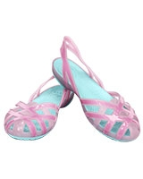 Girls' Huarache Slingback Flat Bubblegum/Ice Blue 14410 - Crocs