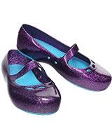 Girls' Carlisa Glitter Flat Dahlia/Surf 14412 - Crocs