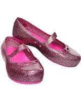 Girls' Carlisa Glitter Flat Carnation/Neon Magenta 14412 - Crocs