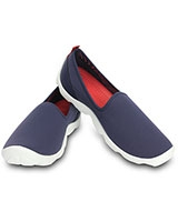 Women's Duet Busy Day Skimmer Nautical Navy/White 14698 - Crocs