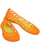 Women's Adrina III Flat Cosmic Orange/Citrus 14936 - Crocs