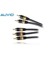 AUVIO® 6 Ft. Video RCA Stereo Audio to Video RCA Mono Audio - RadioShack