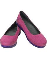 Women's Stretch Sole Flat Vibrant Violet/Ultraviolet 15317 - Crocs