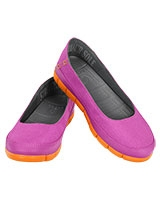 Women's Stretch Sole Flat Vibrant Violet/Orange 15317 - Crocs