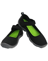Girls Duet Busy Day Mary Jane Juniors Black/Charcoal - Crocs