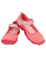 Girls Duet Busy Day Mary Jane Juniors Coral/Ballerina Pink - Crocs