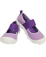 Girls' Duet Busy Day Mary Jane Children's Iris/Neon Purple - Crocs