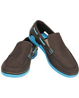 Men's Beach Line Boat Slip-on Espresso/Electric Blue 15386 - Crocs