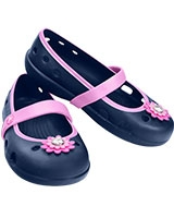 Girls' Keeley Petal Charm Flat Navy/Carnation 15399 - Crocs