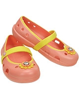 Girls' Keeley Petal Charm Flat Melon/Sunshine 15399 - Crocs