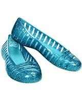 Girls' Adrina II Glitter Flat Surf/Aqua 15613 - Crocs
