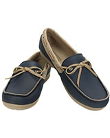 Women's Wrap ColorLite Loafer Navy/Tumbleweed 15753 - Crocs