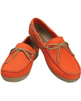 Women's Wrap ColorLite Loafer Tangerine/Tumbleweed 15753 - Crocs