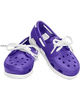 Kids' Beach Line Lace Boat Shoe Ultraviolet/White 15915 - Crocs