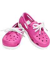 Kids' Beach Line Lace Boat Shoe Fuchsia/White 15915 - Crocs