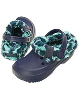 Kids' Blitzen II Animal Print Clog Nautical Navy/Pool 16014 - Crocs