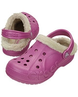 Kids' Baya Heathered Lined Clog Wild Orchid/Stucco 16171 - Crocs