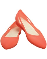 Women's Rio Flat Coral/Oyster 16265 - Crocs