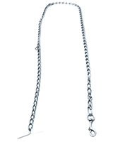 Dog Chain Silver Medium Size 180 cm 19-1004 - AM