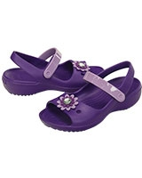 Kids' Keeley Mini Wedge Neon Purple/Iris 200022 - Crocs