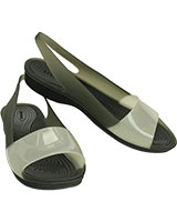 Women's ColorBlock Flat Black/Stucco 200032 - Crocs