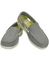 Kids' Beach Line Hybrid Boat Shoe Light Grey/Chartreuse 200036 - Crocs