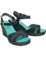Women's Leigh Sandal Wedge Storm/Storm 200098 - Crocs
