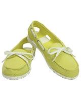 Women's Beach Line Hybrid Boat Shoe Chartreuse/White 200109 - Crocs
