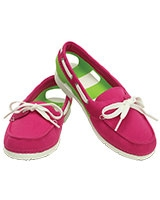 Women's Beach Line Hybrid Boat Shoe  Candy Pink/Volt Green 200109 - Crocs