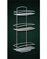 Rectangular Metallic Shelf with 3 layers Onda - Metaltex