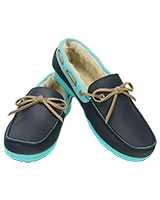 Women's Wrap ColorLite Lined Loafer Navy/Pool 200866 - Crocs