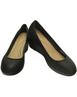 Women's Marin ColorLite Wedge Black/Black 200873 - Crocs