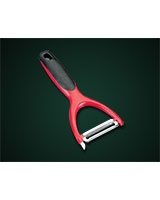 Potato Peeler with a wide red plastic handle - Metaltex