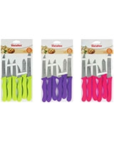 Set Of 6 Basic Knives & Peeler - Metaltex