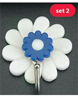 Set Of 2 Adhesive Hooks Marguerite - Metaltex